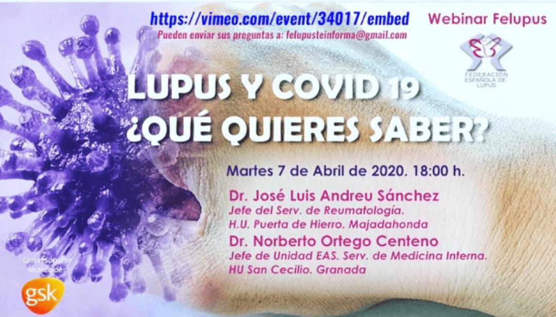 Lupus y Covid19, ¿qué quieres saber?