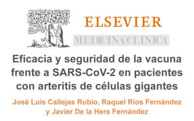 Eficacia y seguridad de la vacuna frente a SARS-CoV-2 en pacientes con arteritis de células gigantes